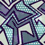 Blauw doek naadloos patroon met grungeeffect vector illustratie