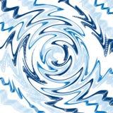 Blauw door de leegte wordt geabsorbeerd die royalty-vrije illustratie