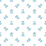 Blauw draag patroon Stock Afbeeldingen