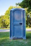 Blauw Draagbaar Toilet royalty-vrije stock foto's