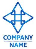 Blauw driehoeks 3D embleem Royalty-vrije Stock Foto's