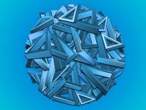 Blauw driehoeks cirkelontwerp Stock Foto's
