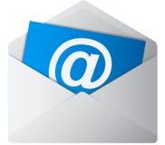 Blauw e-mailsymbool Royalty-vrije Stock Foto