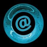 Blauw e-mailteken Stock Fotografie