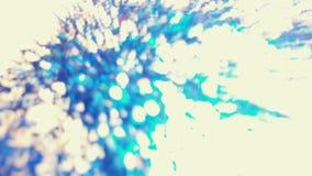 Blauw EDM-Water zoals Bokeh-Lichten in vele divers, helder, en PR royalty-vrije stock foto's