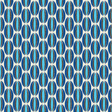 Blauw en Bruin Retro Patroon Royalty-vrije Stock Afbeeldingen