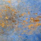 Blauw en gouden paneelontwerp Stock Afbeeldingen