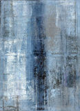 Blauw en Grey Abstract Art Painting Royalty-vrije Stock Afbeeldingen