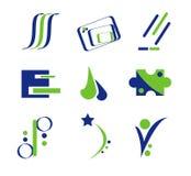 Blauw en Groen Abstract Ontwerp Stock Afbeelding