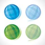 Blauw en groen gebied Stock Foto