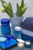 Blauw en groen kuuroord Stock Afbeelding
