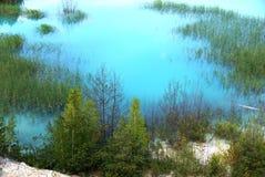 Blauw en groen - mooie Russische aard Stock Foto