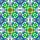 Blauw en groen naadloos abstract patroon Stock Fotografie