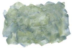 Blauw en groene waterverf Stock Afbeeldingen
