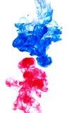 Blauw en rood Stock Fotografie