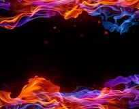Blauw en Rood kader royalty-vrije stock afbeelding