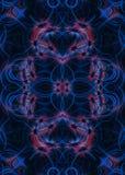 Blauw en rood lichtslepenachtergrond Royalty-vrije Stock Afbeeldingen