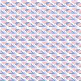 Blauw en roze geometrisch naadloos patroon met driehoeken Royalty-vrije Stock Foto's