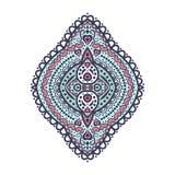 Blauw en roze uitstekend ornamentelement Patroonelement vector illustratie
