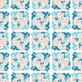 Blauw en van de Pastelkleur Roze Abstract Geometrisch Vorm Net stock illustratie