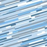 Blauw en wit abstract dynamisch gestreept naadloos patroon, vector royalty-vrije illustratie