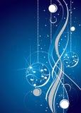 Blauw en wit artistiek ontwerp vector illustratie