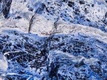 Blauw en Wit Gewerveld Graniet Stock Afbeeldingen