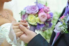 Blauw en wit huwelijksboeket Royalty-vrije Stock Afbeelding