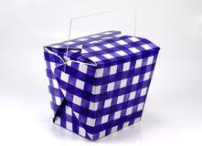 Blauw en Wit Karton royalty-vrije stock fotografie