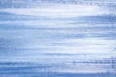 Blauw en Wit Olieverfschilderijdetail royalty-vrije stock afbeeldingen