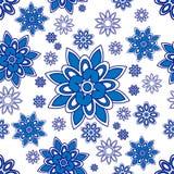 Blauw en wit patroon Stock Fotografie