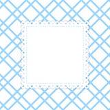 Blauw en wit vectormalplaatje Royalty-vrije Stock Afbeelding