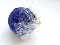 Blauw en Zilveren boomornament Royalty-vrije Stock Foto's