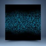Blauw en zwart abstract malplaatje stock illustratie