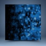 Blauw en zwart abstract malplaatje Stock Foto's