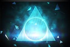 Blauw en zwart driehoeksontwerp Stock Afbeeldingen