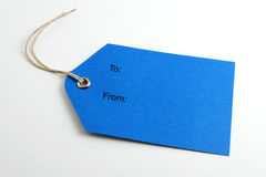 Blauw etiket Royalty-vrije Stock Fotografie
