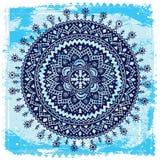 Blauw Etnisch ornament Royalty-vrije Stock Fotografie