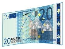 Blauw euro contant geld vector illustratie