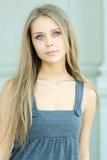 Blauw-eyed meisje Stock Foto's