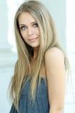 Blauw-eyed meisje Stock Afbeelding