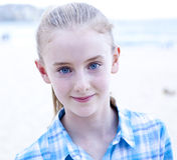 Blauw-Eyed Meisje stock foto
