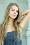 Blauw-eyed mooi meisje Royalty-vrije Stock Foto