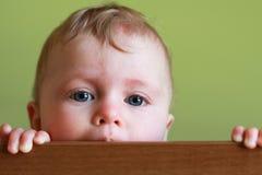 Blauw eyed schitterend babymeisje Royalty-vrije Stock Foto's