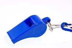 Blauw fluitje Royalty-vrije Stock Foto's