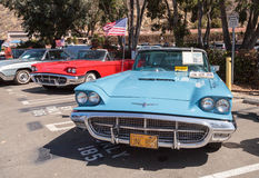 Blauw 1963 Ford Thunderbird Royalty-vrije Stock Afbeeldingen