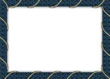 Blauw fotoframe Royalty-vrije Stock Foto's