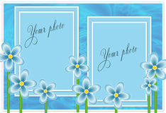 Blauw frame voor foto Stock Foto