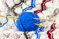 Blauw garen stock afbeelding