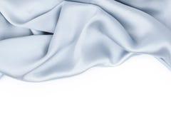 Blauw geïsoleerd satijn Royalty-vrije Stock Afbeeldingen